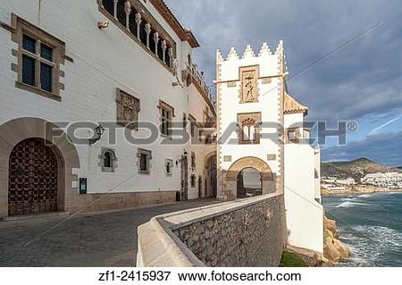 Picture of Palau Maricel, Sitges,Catalonia,Spain. zf1.