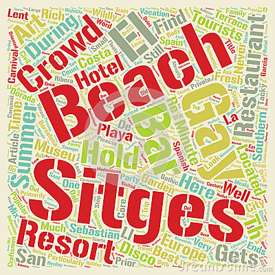 Sitges Spain Stock Illustrations.