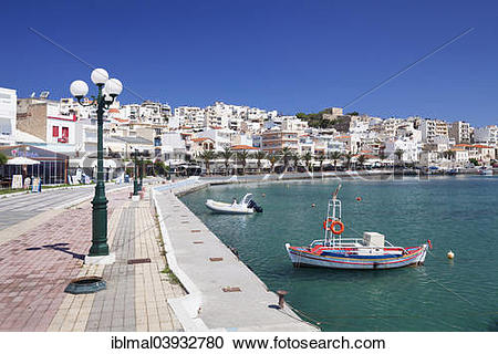 "Stock Photography of ""Harbour promenade of Sitia, Eastern Crete."
