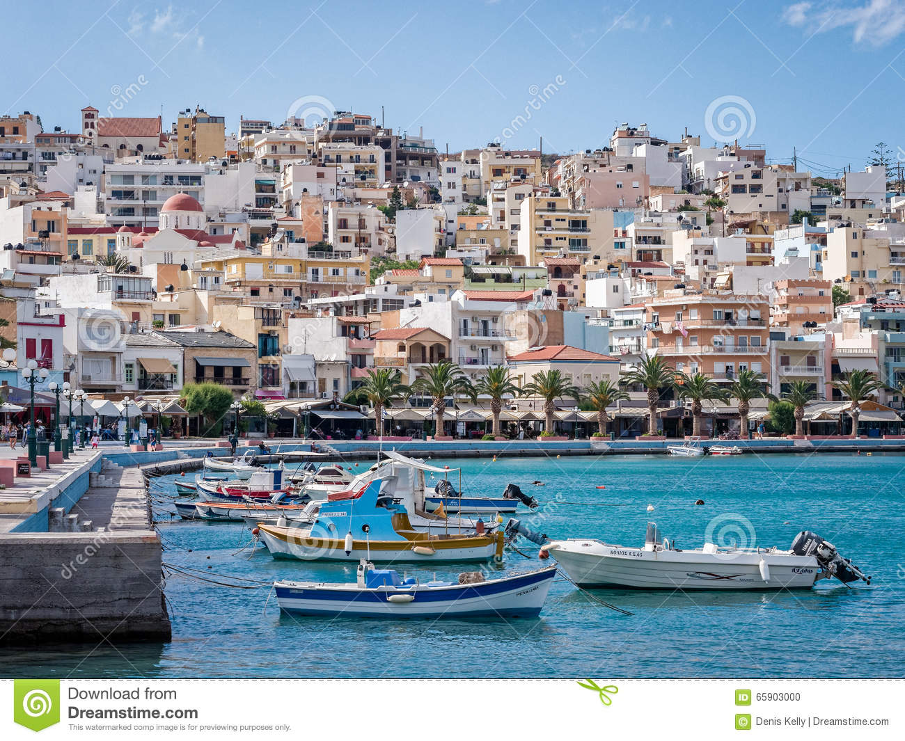 Sitia Harbour In Crete, Greece Editorial Image.