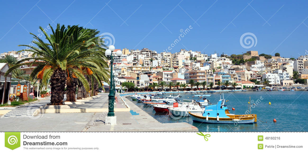 Cityscapes Sitia, Crete Island, Greece, Europe Editorial Photo.