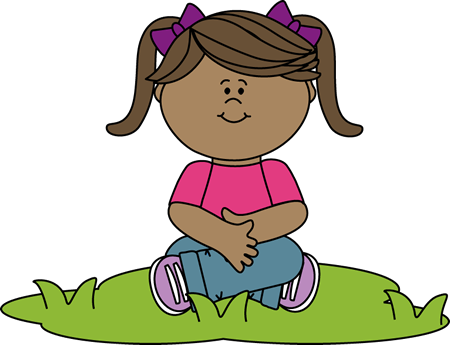 Clipart kids sitting.