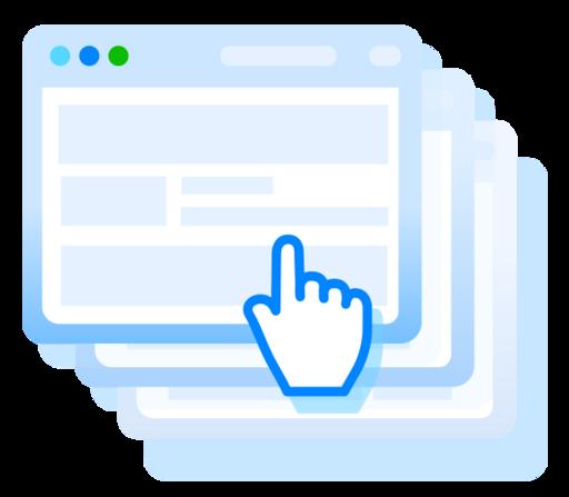 Icono Navegador, ventana, clonación, site, sitio web Gratis.