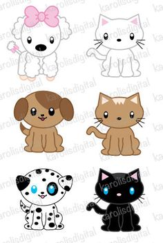 Dogs and Friends clip art part 2 for Personal and Commercial use.