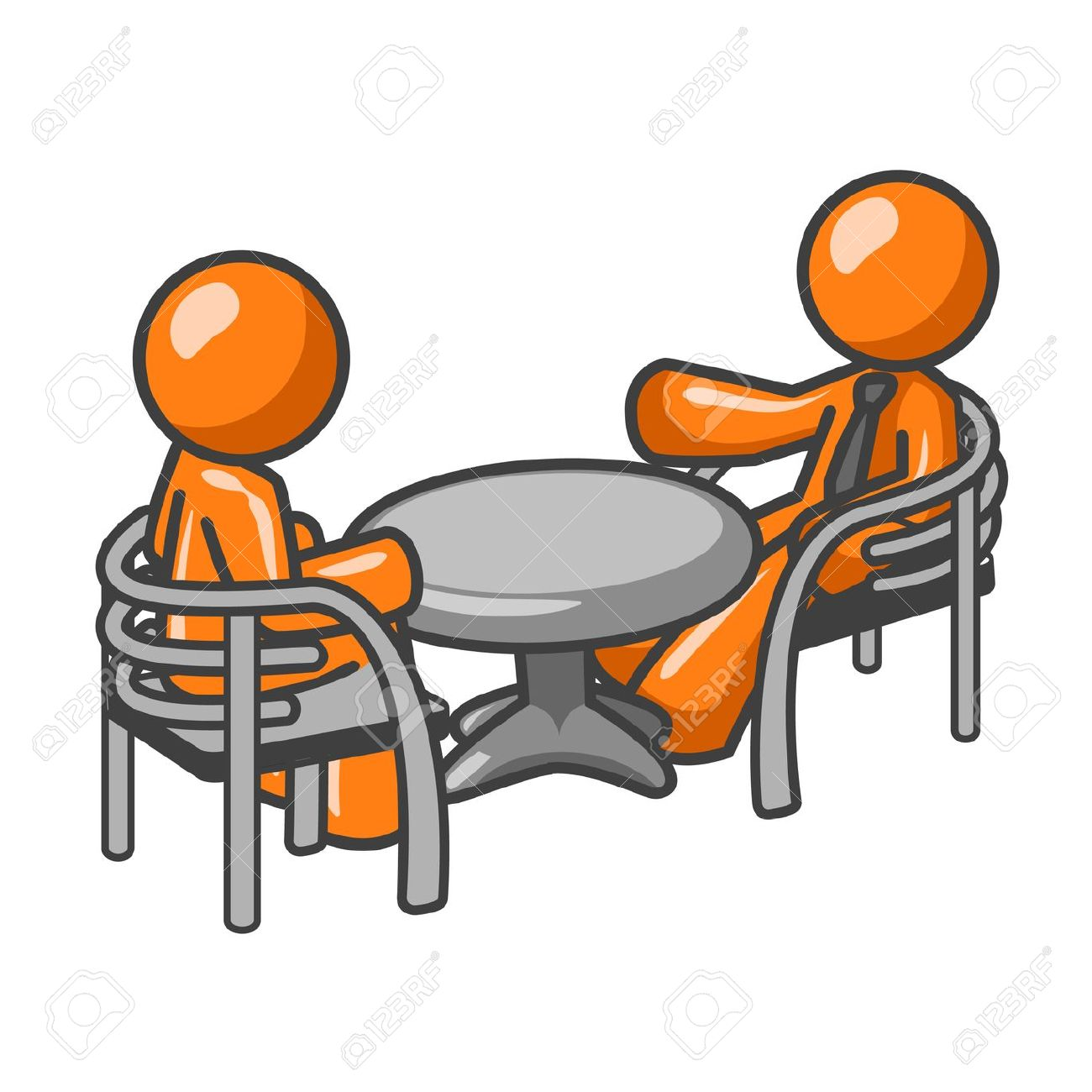 Old Man Sitting At Table Clipart.