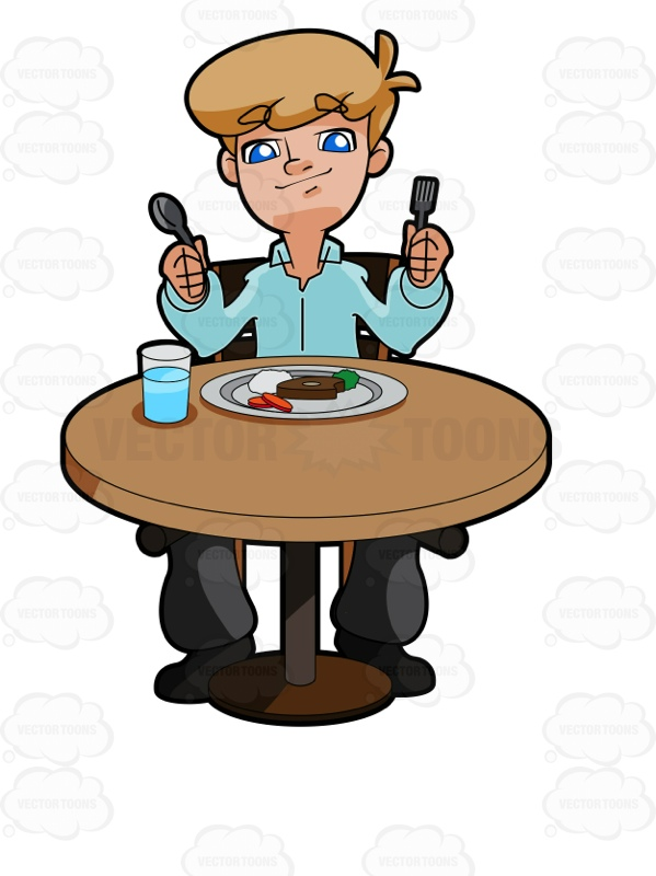 Sit At Table For Snack Clipart.