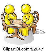 People Sitting At A Table Clipart.