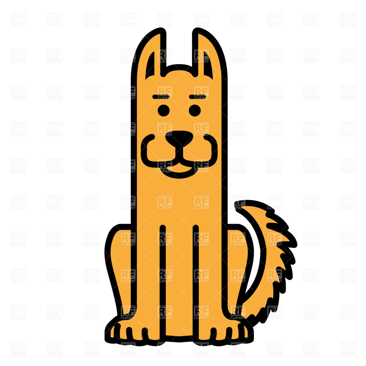 Sitting Dog Clipart.