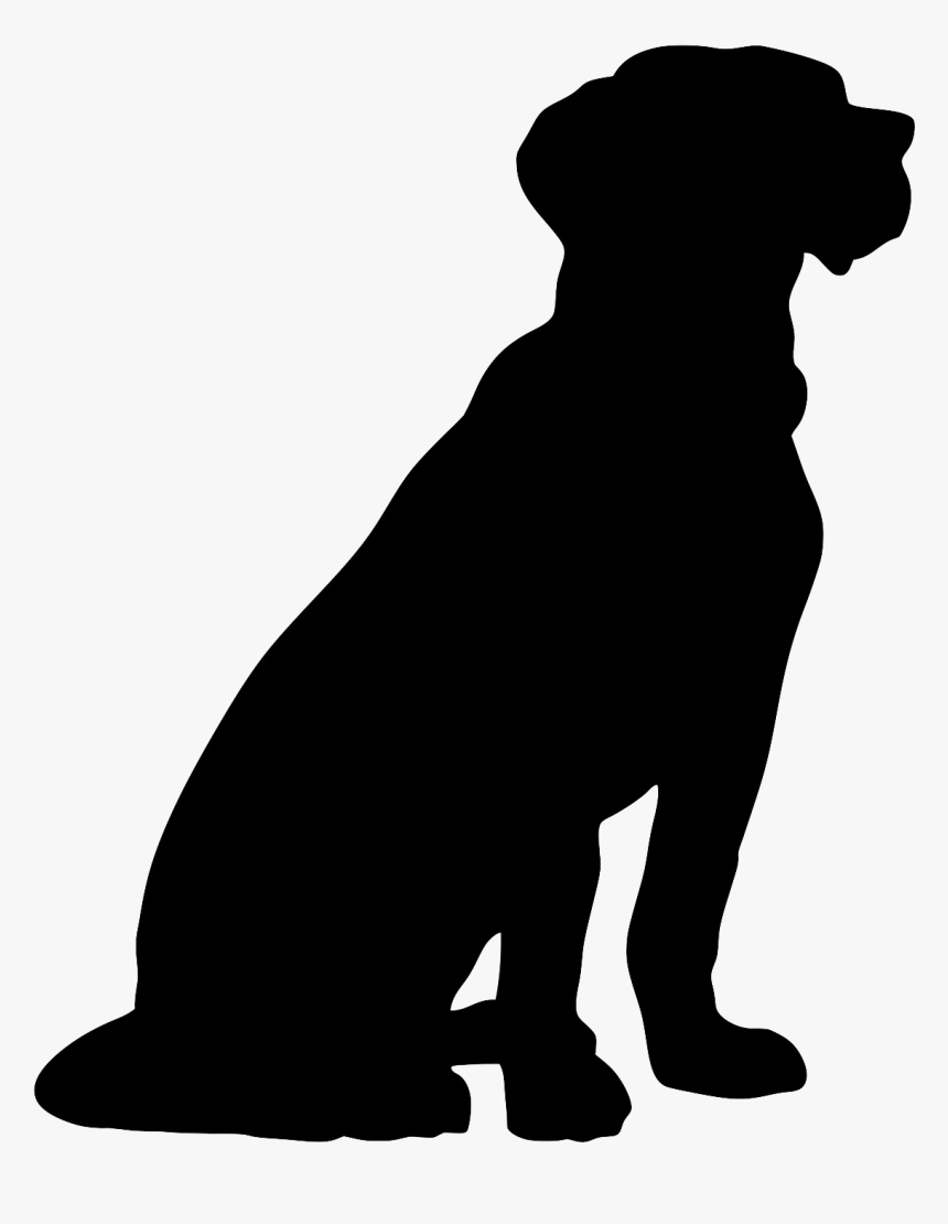 Sitting Dog Silhouette Png.
