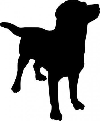 Sitting Dog Silhouette Pattern.