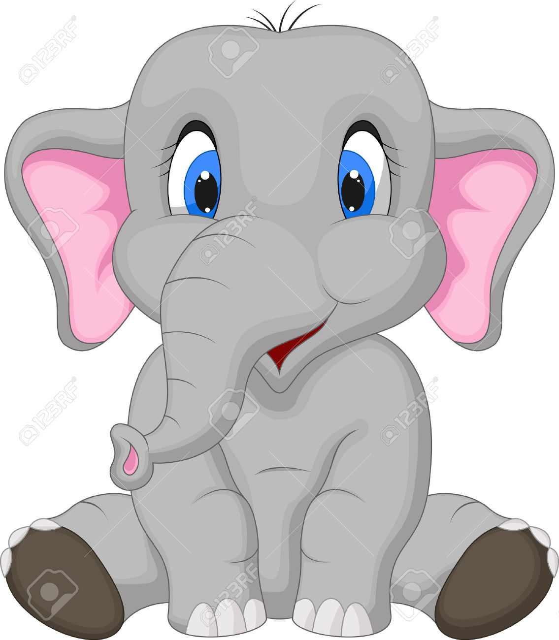 6,979 Baby Elephant Stock Vector Illustration And Royalty Free.