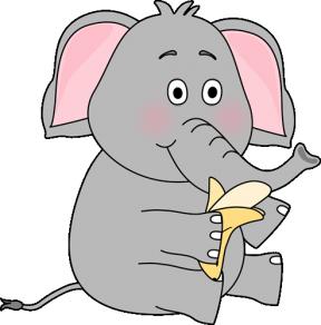 Sitting Elephant Clipart.