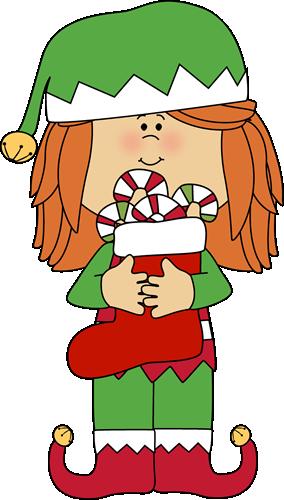 Santa elf clipart.
