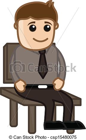 Clipart Sitting In Chair.