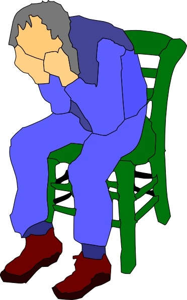Man Sitting On A Chair clip art Free vector in Open office drawing.
