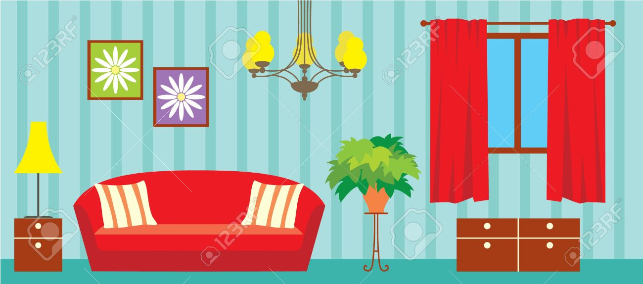 Living Room Royalty Free Cliparts, Vectors, And Stock Illustration.