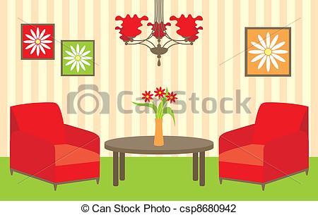 Vector Illustration of Living room.