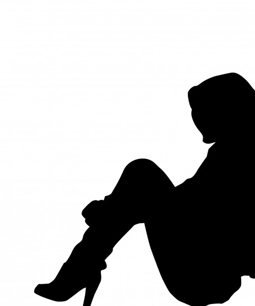 Woman Sitting Silhouette Clipart Free Stock Photo.