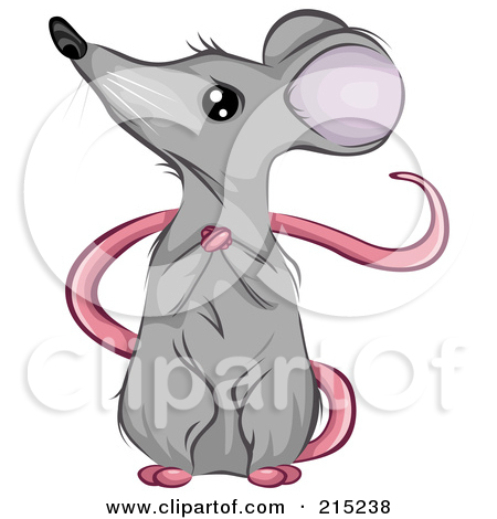 Sitting mouse clipart.