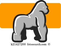Silverback Clip Art and Illustration. 78 silverback clipart vector.