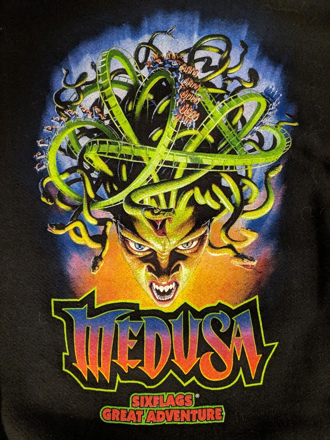 Medusa Six Flags Great Adventure logo.