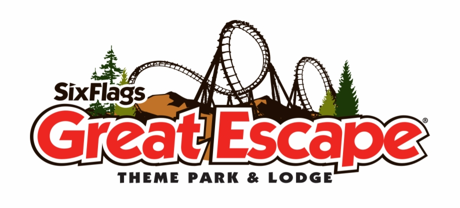 Six Flags Great Escape Logo.