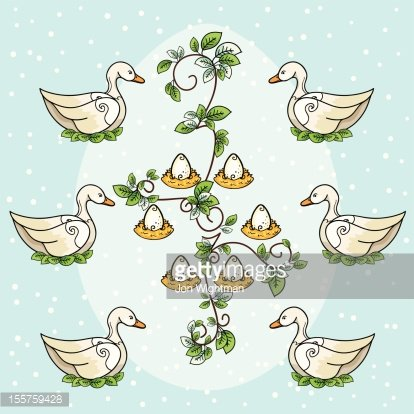 The Twelve Days of Christmas Six Geese A Laying premium.