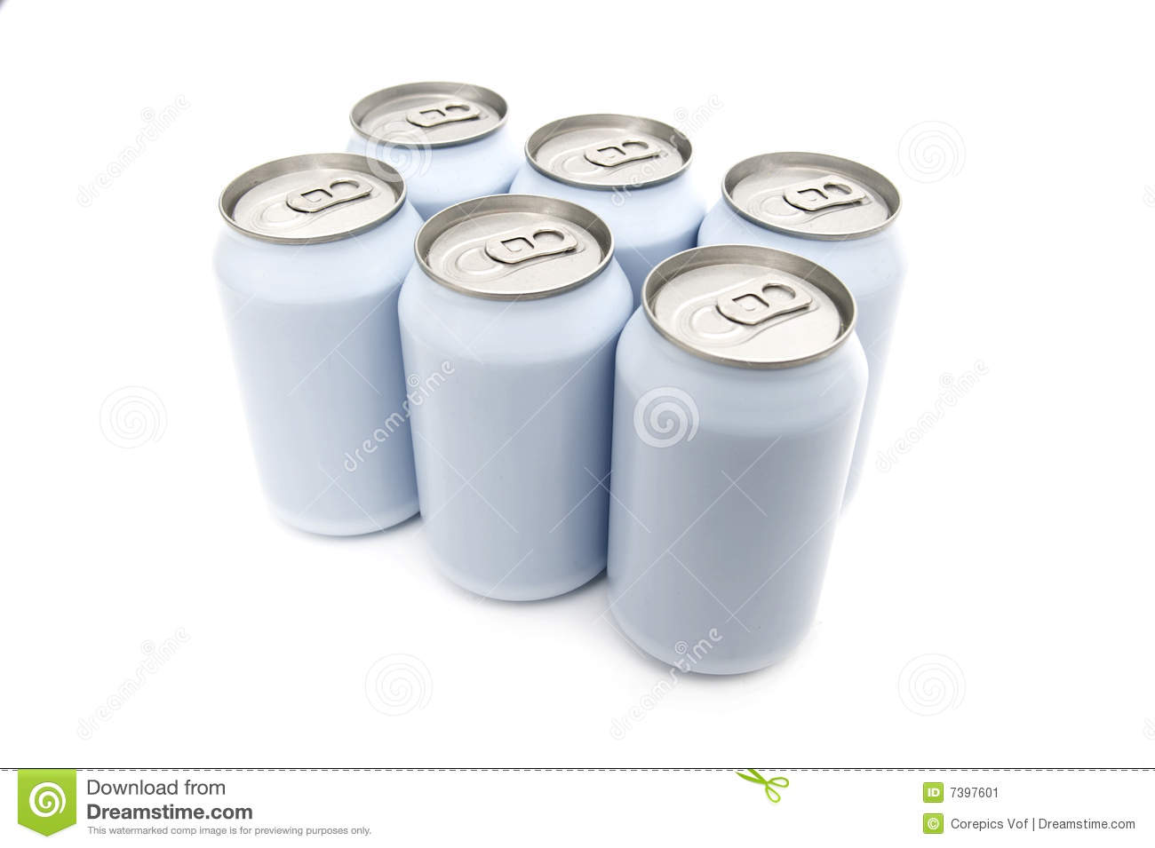 Six Pack Cans Royalty Free Stock Image.