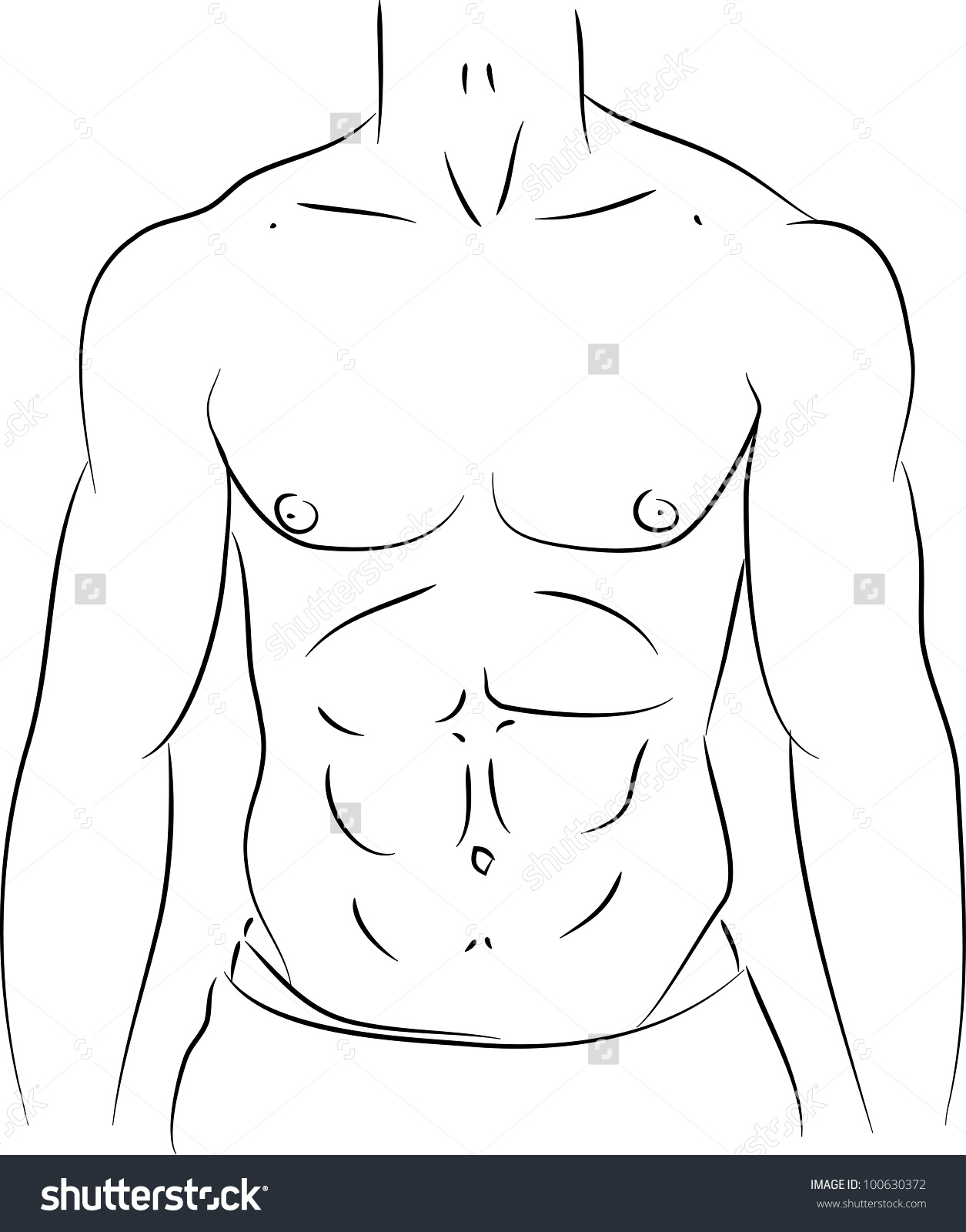 Six pack abs clipart.