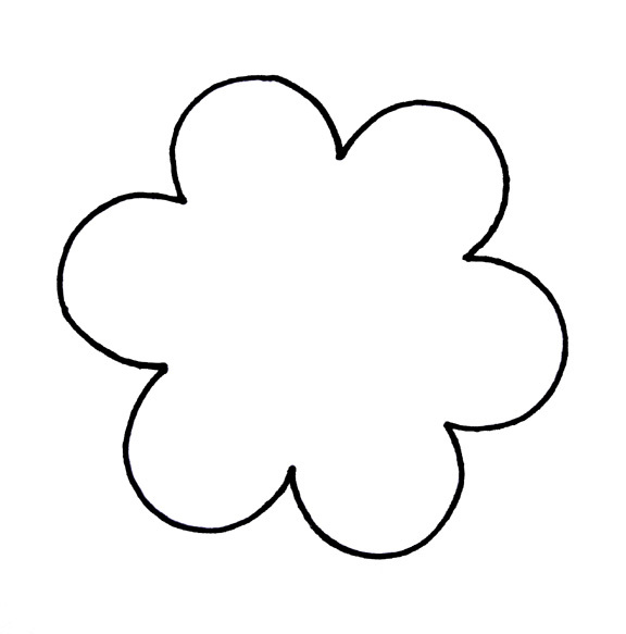 Flower Petal Outline Clipart.