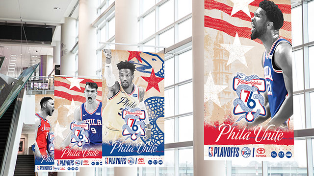 Sixers unveil \'Phila Unite\' playoff campaign.