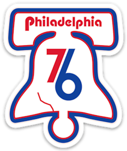 Details about Philadelphia 76ers Retro Vintage Logo 3 inch Vinyl Sticker  Phillies Flyers Eagle.