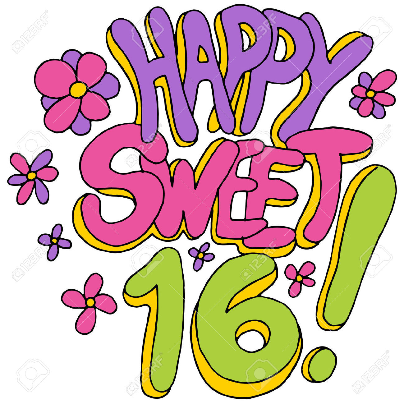 Sweet 16 Clipart Free.