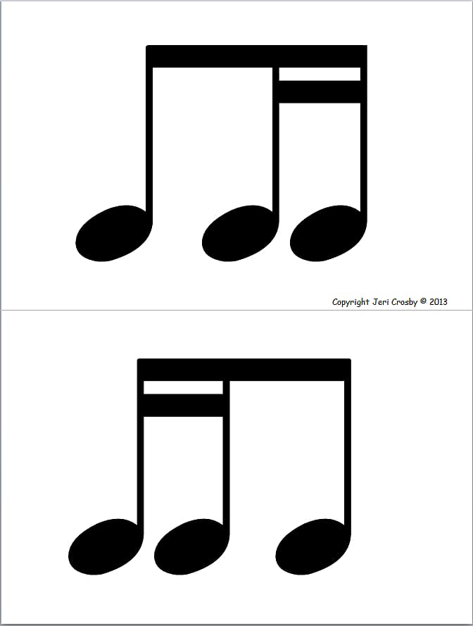 Sixteenth note Eighth note Musical note Quarter note.