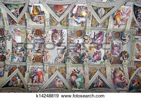 Stock Photograph of Sistine Chapel k14248819.