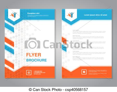 Clipart Vector of Vector modern brochure, abstract flyer with.