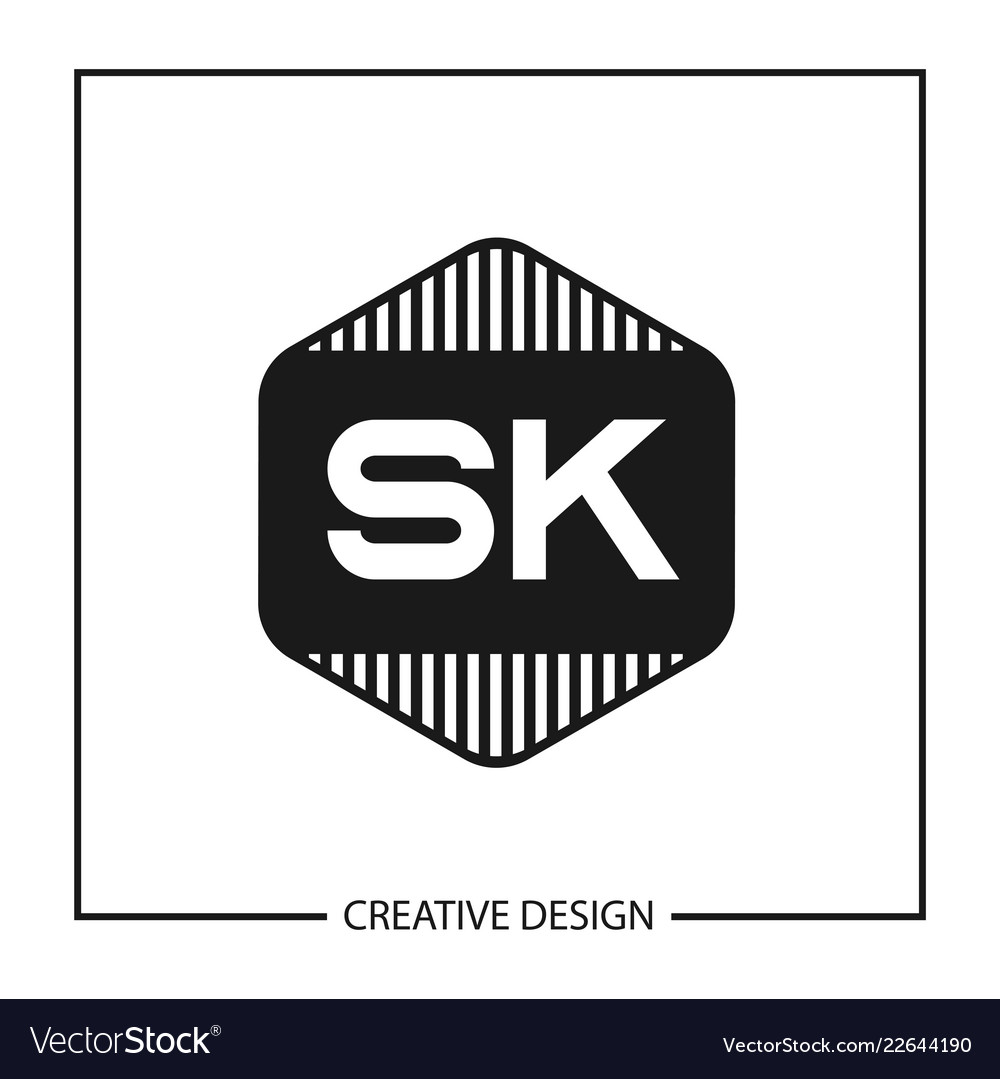 Initial letter sk logo template design.