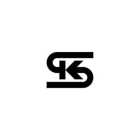 Follow us @logoinspirations SK Monogram by @omargarcia.