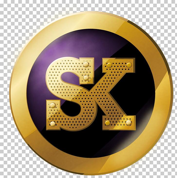 Sk Graphics SK Group Desktop Logo, king, gold and purple SK.