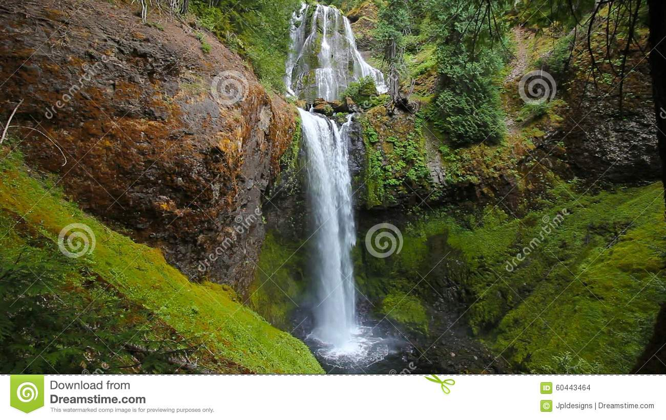 High Definition Movie With Water Audio Sound Of Majestic Falls.