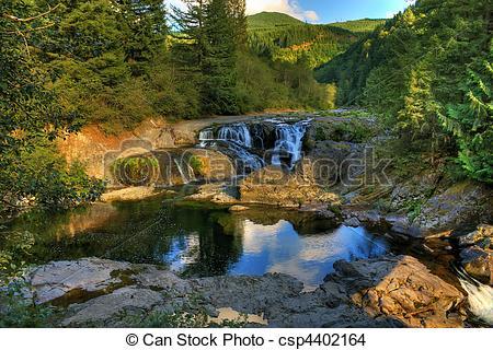 Stock Photo of Dougan Falls Washougal River.