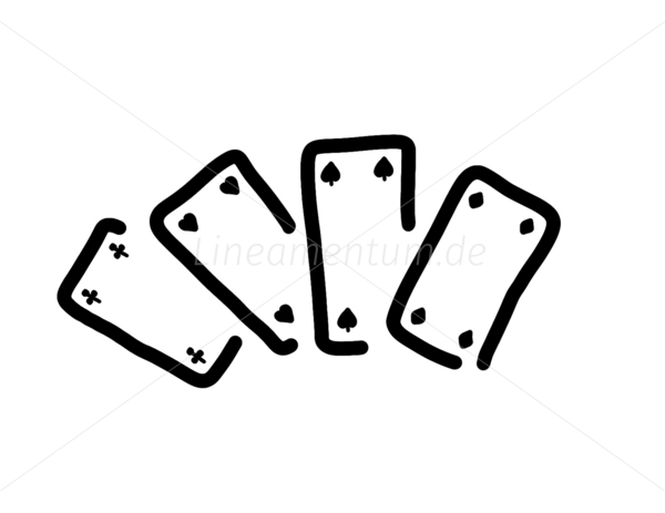 Kartenspiel Clipart.