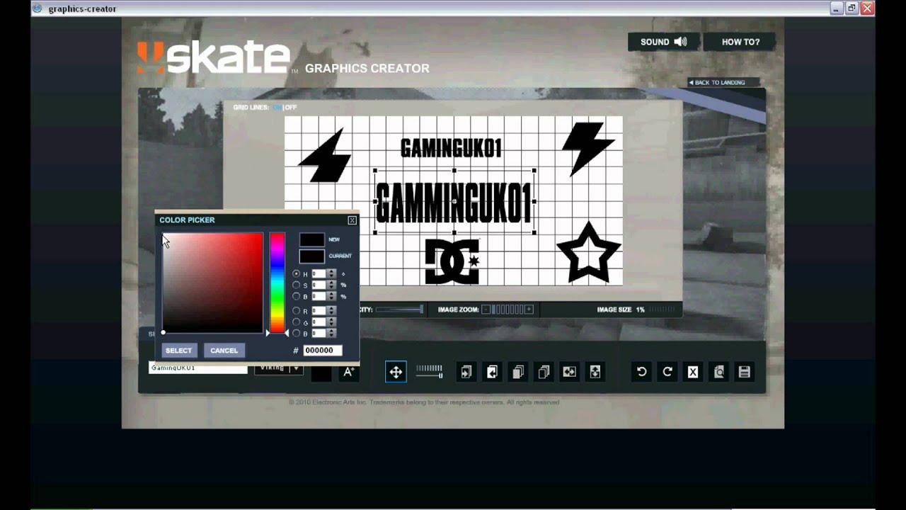 how to make a skate 3 logo.