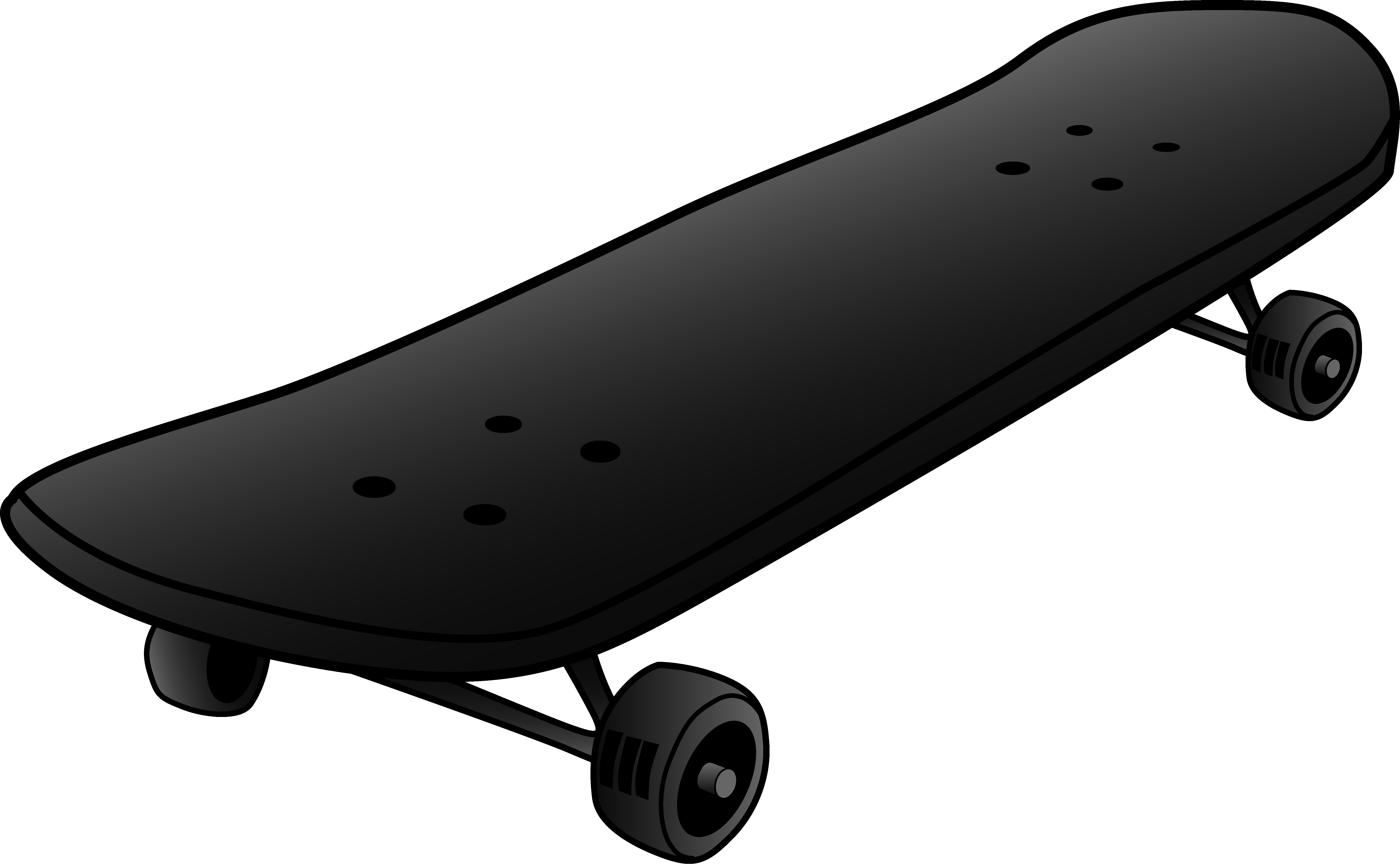 Black Skateboard Design.