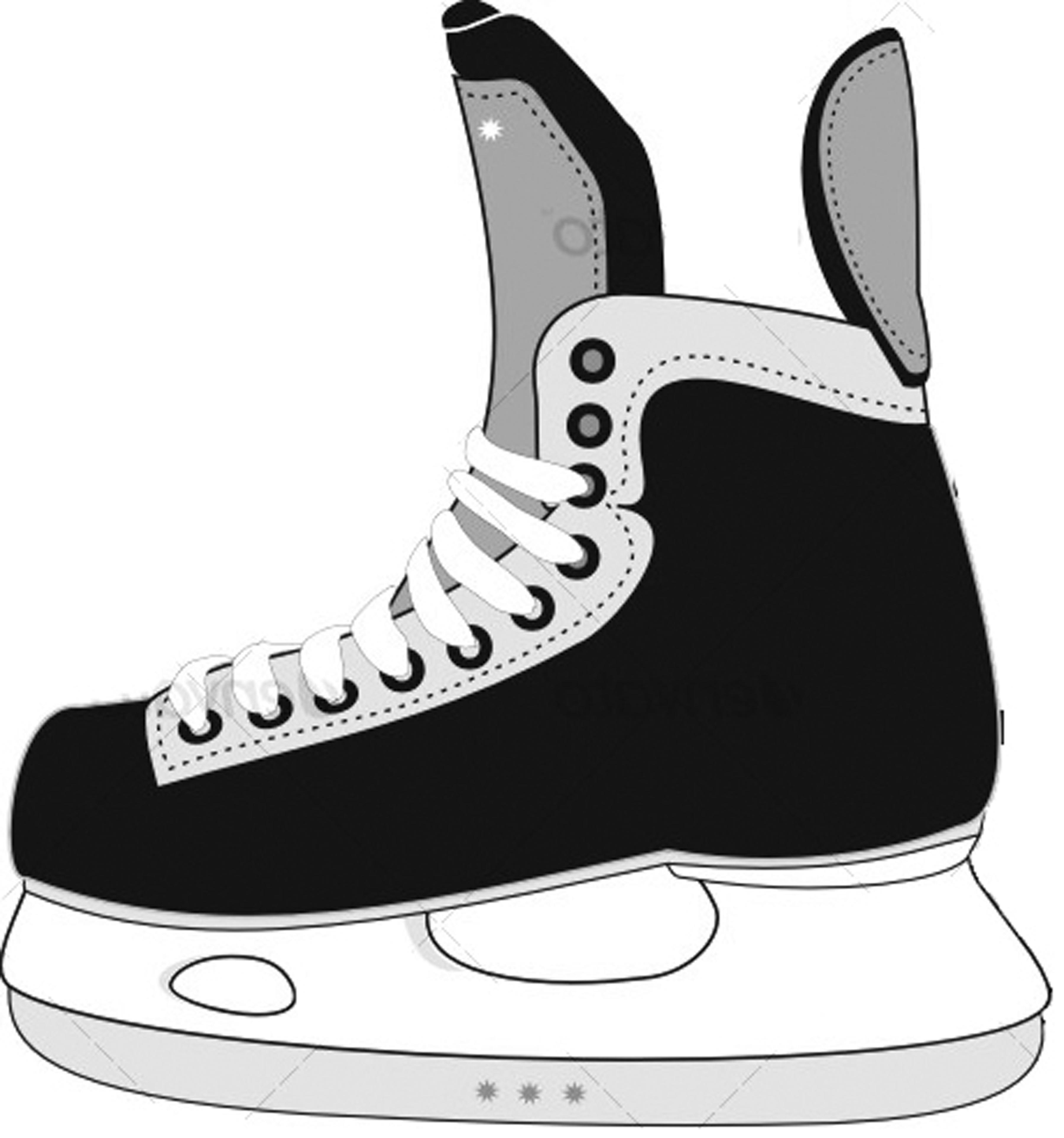 Ice Hockey Skates Clipart.