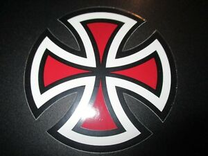 Details about INDEPENDENT TRUCKS Red cross logo Skateboard Skate 4\