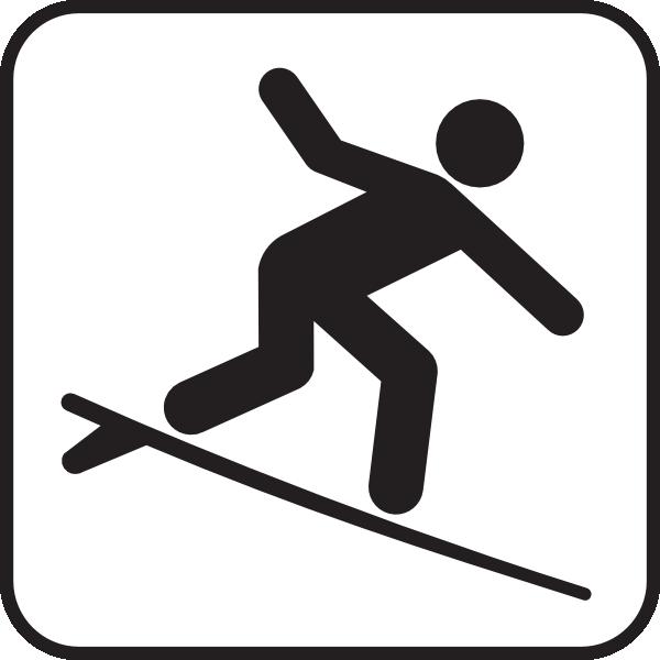 Longboard Surf Clipart.