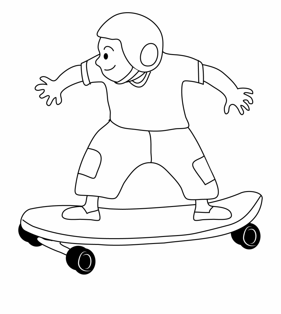 Skateboard Clipart Black And White.