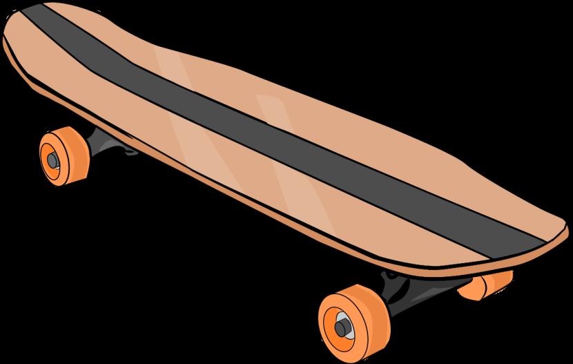 Longboard skateboard clipart.