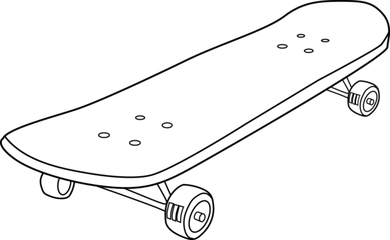 Skateboard Coloring Page.